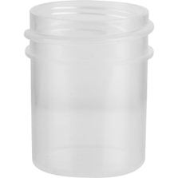 1/2 oz. Natural Plastic Jar, Straight Sided, 33mm 33-400