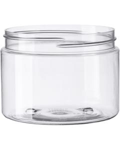 12 oz. Clear PET Plastic Jar, Straight Sided, 89mm 89-400
