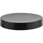 89mm 89-400 Black Smooth Plastic Cap w/Pressure Sensitive Liner