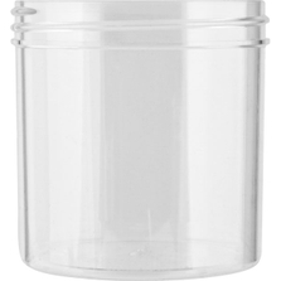 6 oz. Clear Plastic Jar, Straight Sided, 70mm 70-400
