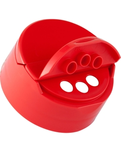 43mm 43-485 Red Dual Flapper Cap, 3 Holes, Unlined