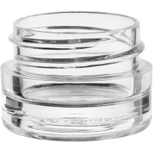 1/8 oz. Clear PS Plastic Jar, Thick Wall, Straight Sided, 33mm 33-400