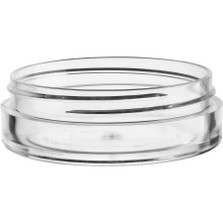 1 oz. Clear PS Plastic Jar, Thick Wall, Straight Sided, 70mm 70-400