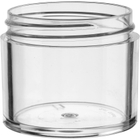 2 oz. Clear PS Plastic Jar, Thick Wall, Straight Sided, 53mm 53-400