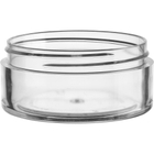 2 oz. Clear PS Plastic Jar, Thick Wall, Straight Sided, 70mm 70-400