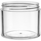 4 oz. Clear PS Plastic Jar, Thick Wall, Straight Sided, 70mm 70-400