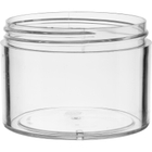 8 oz. Clear PS Plastic Jar, Thick Wall, Straight Sided, 89mm 89-400