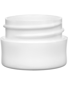 1/8 oz. White PP Plastic Jar, Thick Wall, Straight Sided, 33mm 33-400