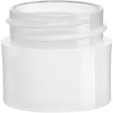 1/4 oz. Natural PP Plastic Jar, Thick Wall, Straight Sided, 33mm 33-400
