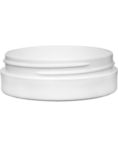 1 oz. White PP Plastic Jar, Thick Wall, Straight Sided, 70mm 70-400
