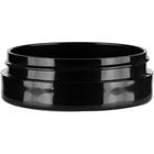 1 oz. Black PP Plastic Jar, Thick Wall, Straight Sided, 70mm 70-400
