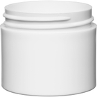 2 oz. White PP Plastic Jar, Thick Wall, Straight Sided, 53mm 53-400