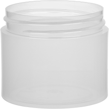 2 oz. Clarified Natural PP Plastic Jar, Thick Wall, Straight Sided, 53mm 53-400