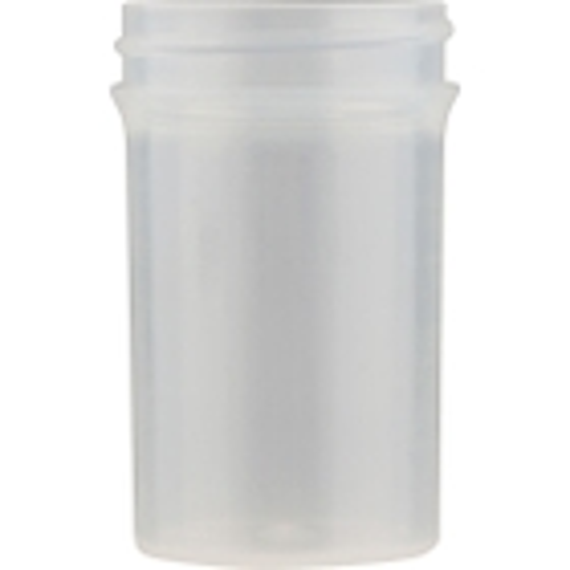 2 oz. Natural Plastic Jar, Straight Sided, 43mm 43-400