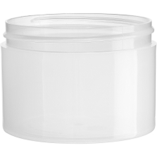 8 oz. Clarified Natural PP Plastic Jar, Thick Wall, Straight Sided, 89mm 89-400