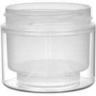 2 oz. Clear PS/Clarified PP Plastic Jar, Double Wall, Straight Sided, 58mm 58-400