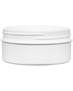2 oz. White PP Style Line Jar, Thick Wall, Straight Sided, 70mm 70-400