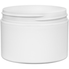 12 oz. White PP Stretch Profile Jar, Thick Wall, Straight Sided, 89mm 89-400