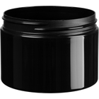 12 oz. Black PP Stretch Profile Jar, Thick Wall, Straight Sided, 89mm 89-400
