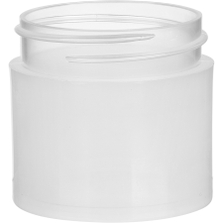 1 oz. Clarified Natural PP Plastic Jar, Thick Wall, Straight Sided, 43mm 43-400