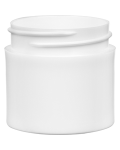 1 oz. White PP Plastic Jar, Thick Wall, Straight Sided, 43mm 43-400