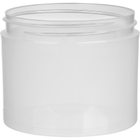 4 oz. Clarified Natural PP Plastic Jar, Thick Wall, Straight Sided, 70mm 70-400