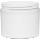4 oz. White PP Plastic Jar, Thick Wall, Straight Sided, 70mm 70-400