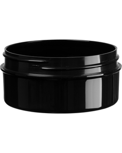 2 oz. Black PP Style Line Jar, Thick Wall, Straight Sided, 70mm 70-400