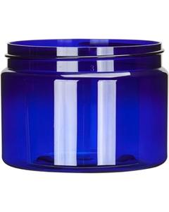 12 oz. Blue PET Plastic Jar, Straight Sided, 89mm 89-400