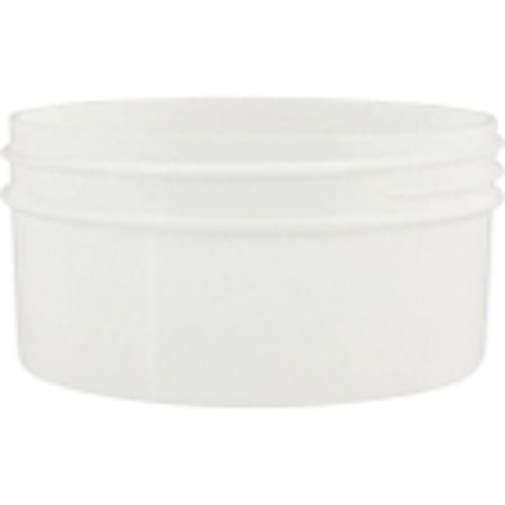 4 oz. White Plastic Jar, Straight Sided, 89mm 89-400
