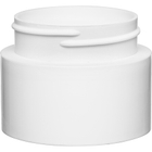 1.5 oz. White PP Plastic Open Bottom Jar, 53mm 53-400