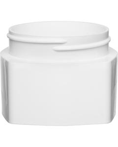 3 oz. White PP Plastic Square Open Bottom Jar, 63mm 63-400