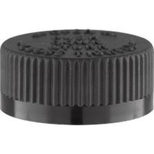 33mm 33-400 Black Child Resistant Cap (PDT) w/HIS Liner for PET/PVC