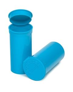 13 Dram Aqua Opaque Plastic Pop Top Container, 315/cs