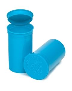 19 Dram Aqua Opaque Plastic Pop Top Container, 225/cs