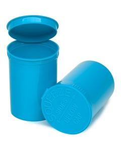 30 Dram Aqua Opaque Plastic Pop Top Container, 150/cs