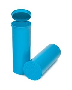 60 Dram Aqua Opaque Plastic Pop Top Container, 75/cs