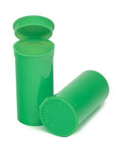 13 Dram Lime Green Opaque Plastic Pop Top Container, 315/cs