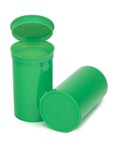 19 Dram Lime Green Opaque Plastic Pop Top Container, 225/cs