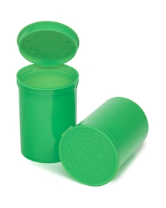 30 Dram Lime Green Opaque Plastic Pop Top Container, 150/cs