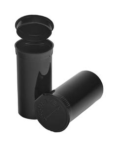 13 Dram Black Opaque Plastic Pop Top Container, 315/cs