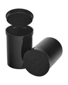30 Dram Black Opaque Plastic Pop Top Container, 150/cs