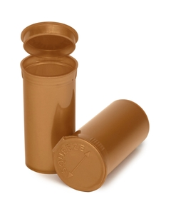 13 Dram Gold Opaque Plastic Pop Top Container, 315/cs