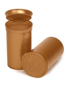 19 Dram Gold Opaque Plastic Pop Top Container, 225/cs