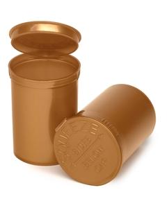 30 Dram Gold Opaque Plastic Pop Top Container, 150/cs