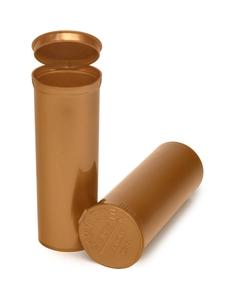 60 Dram Gold Opaque Plastic Pop Top Container, 75/cs