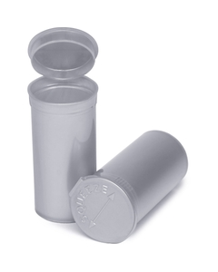 13 Dram Silver Opaque Plastic Pop Top Container, 315/cs