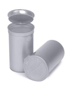19 Dram Silver Opaque Plastic Pop Top Container, 225/cs