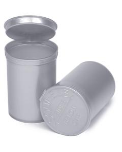 30 Dram Silver Opaque Plastic Pop Top Container, 150/cs