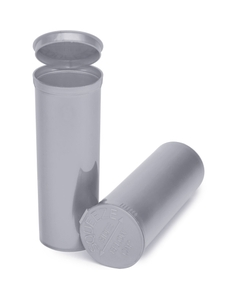 60 Dram Silver Opaque Plastic Pop Top Container, 75/cs
